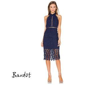 BARDOT Gemma Halter Lace Sheath Dress 100333